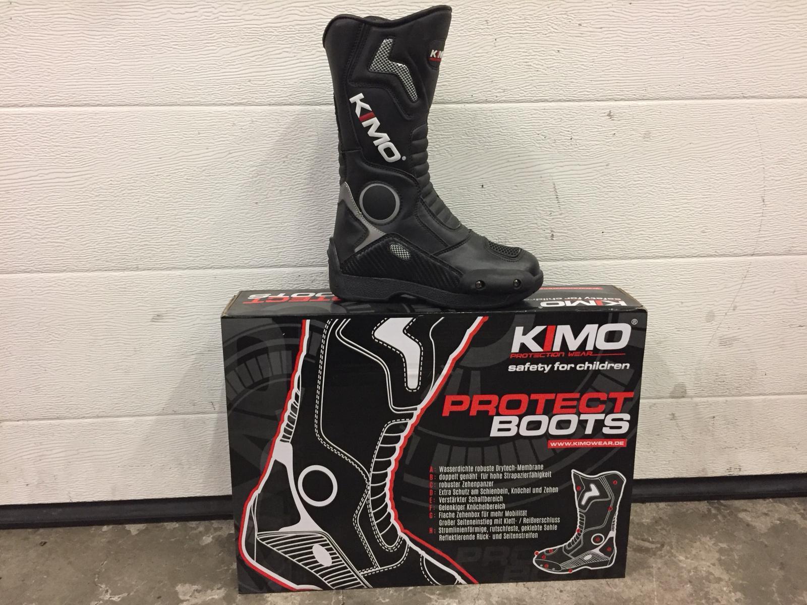 Bottes enfant moto cross Kimo Racing noir - 38